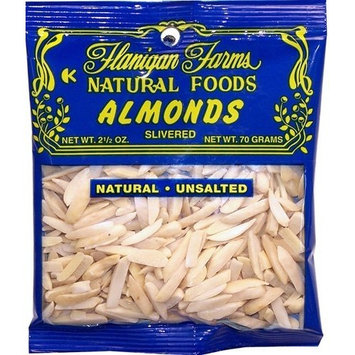Flanigan Farms Natural Foods Almonds, Slivered, Unsalted
