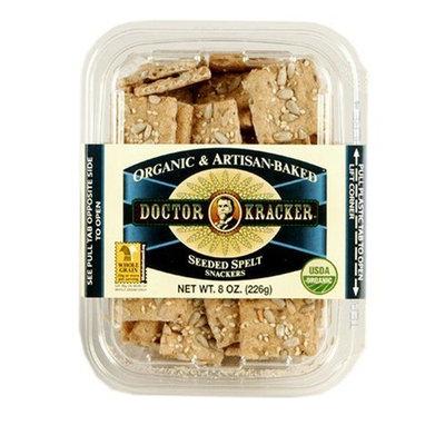 Doctor Kracker Snackers, Seeded Spelt, 8-Ounce Packages (Pack of 5)