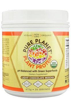 Pure Planet Organic Plant Protein Light Chocolate Mocha 28 Servings - Vegan