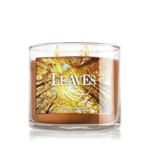 1 X Bath & Body Works 2014 LEAVES 3 Wick Scented Candle 14.5 oz./411 g