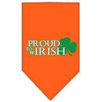Mirage Pet Products 6662 SMOR Proud to be Irish Screen Print Bandana Orange Small