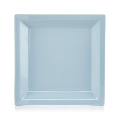 Martha Stewart Collection Harlow Shaker Blue Square Dinner Plate