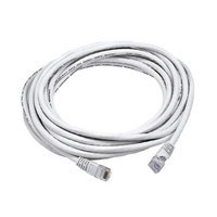Monoprice 20FT 24AWG Cat6 550MHz UTP Bare Copper Ethernet Network Cable - White