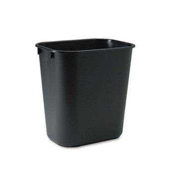 Rubbermaid Commercial RCP295500BK Black Deskside Plastic Wastebasket