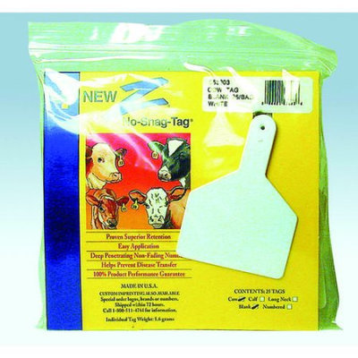 Farnam Z Tag Blank Cow Ztags White - 53603