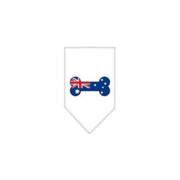 Ahi Bone Flag Australian Screen Print Bandana White Large
