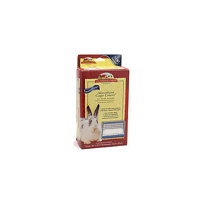 L/m Animal Farms LM Animal Farms Absorbent Cage Liners for Small Animals
