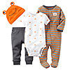 Baby Boy Carter's 4-pc. Layette Set, Size: 3 MONTHS, Grey