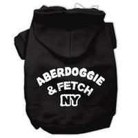 Mirage Pet Products Aberdoggie NY Screenprint Pet Hoodies Black Size Med (12)