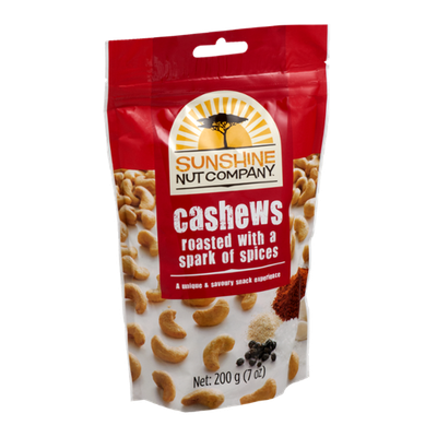 Sunshine Nut Company Cashews Roasted with a Spark of Spices