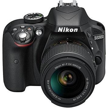 Nikon D3300 Digital SLR with 18-55 AF-P VR Lens - Black