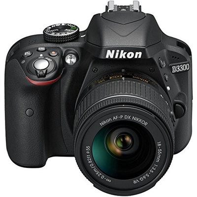 Nikon D3300 Digital SLR with 18-55 AF-P VR Lens - Black