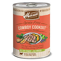 Merrick Gourmet Entree Cowboy Cookout Canned Dog Food
