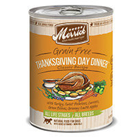 Merrick Gourmet Entree Thanksgiving Day Dinner Canned Dog Food