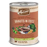 Super-dog Pet Food Company Merrick Brauts n Tots Canned Dog Food Case