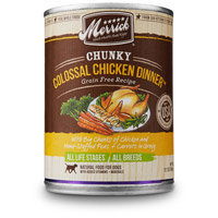 Merrick Chunky Colossal Chicken Dinner Canned Dog Food, 12.7 oz.