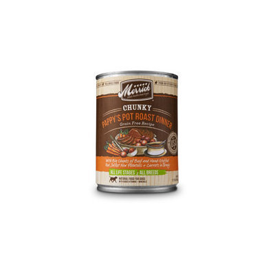 Merrick Chunky Pappy's Pot Roast Dinner Canned Dog Food, 12.7 oz.