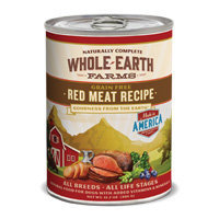 Whole Earth Farms Grain Free Red Meat Canned Dog Food, Case of 12