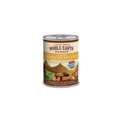 Whole Earth Farms Grain Free Hearty Chicken Stew Canned Dog Food, Case of 12