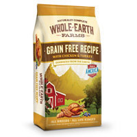 Whole Earth Farms Grain Free Chicken & Turkey Dog Food, 25 lbs.