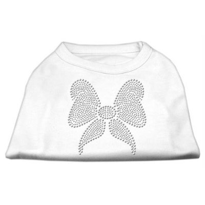Mirage Pet Products 5215 XXLWT Rhinestone Bow Shirts White XXL 18