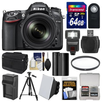 Nikon D7100 Digital SLR Camera & 18-140mm VR DX Lens (Black) with 64GB Card + Case + Flash + Battery/Charger + Tripod + Filter + Remote Kit