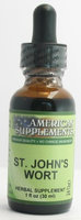 St. John's Wort No Chinese Ingredients American Supplements 1 oz Liquid