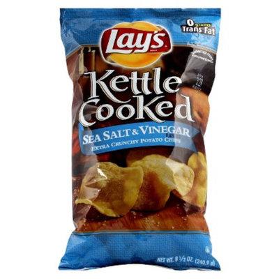 Lays Kettle Cooked Sea Salt & Vinegar Potato Chips 8.5 oz