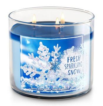 Bath & Body Works® FRESH SPARKLING SNOW 3-Wick Candle