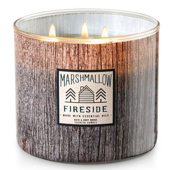 Bath & Body Works®  White Barn MARSHMALLOW FIRESIDE 3-Wick Candle
