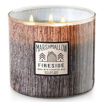 Bath & Body Works® White Barn MARSHMALLOW FIRESIDE 3-Wick Candle