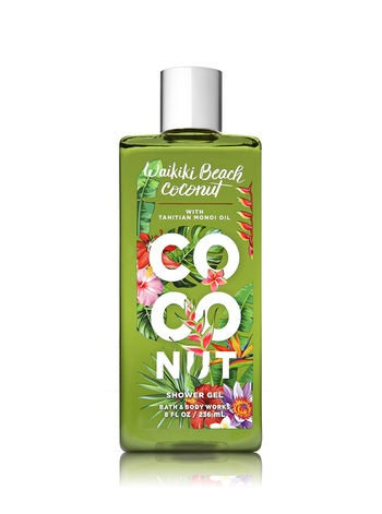 Bath Body Works Signature Collection Waikiki Beach Coconut Shower Gel