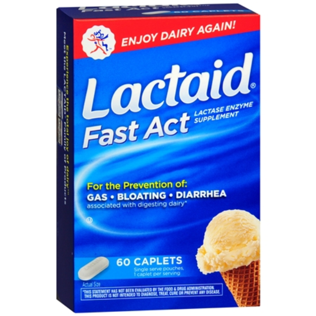 Lactaid Fast Act Lactase Enzyme Supplement