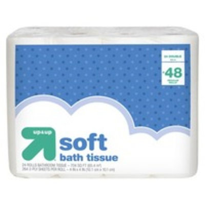 up & up™ Bathroom Tissue - 24 Double Rolls
