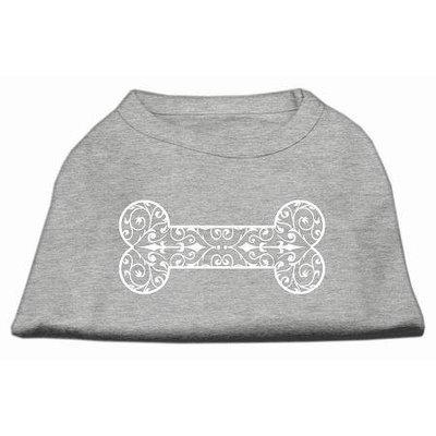 Mirage Pet Products 51-83 LGGY Henna Bone Screen Print Shirt Grey Lg - 14