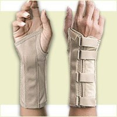 Fla Orthopedics Florida Orthopedics Soft Form Elegant Wrist Support, Beige, Left X-Large