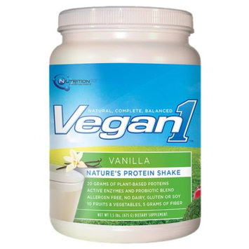 Nutrition53 Vegan1 Nature's Protein Shake Vanilla