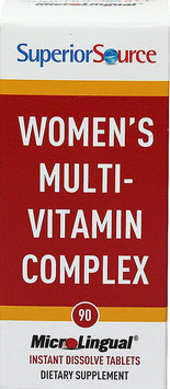 Superior Source - Women's Multi-Vitamin Complex Instant Dissolve - 90 Tablets
