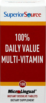 Superior Source - One Daily Value Multi Vitamin Instant Dissolve - 100 Tablets