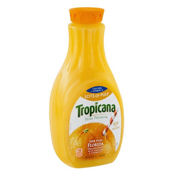 Tropicana Pure Premium Orange Juice Lots of Pulp Calcium + Vitamin D