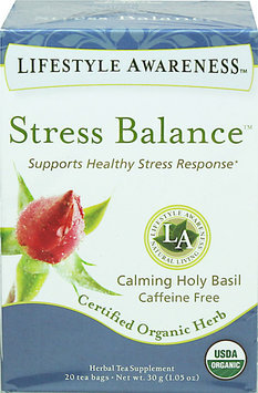 Lifestyle Awareness Organic Stress Balance Tea-20 Bags