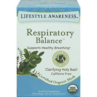 Lifestyle Awareness Organic Respiratory Balance Tea-20 Bags