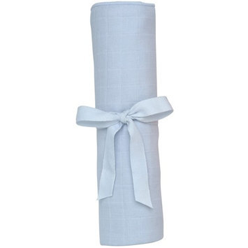 Under The Nile Take Me Home Muslin - Swaddle Blanket - Ice Blue
