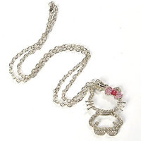 Hello Kitty Figure Necklace Pendant Bowknot Pink