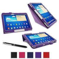 rooCASE Samsung Galaxy Tab 3 10.1 Case - Origami Stand Tablet Case - PURPLE (With Auto Wake / Sleep Cover)