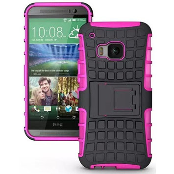 The Case Doctor TCD HTC One M9 Hybrid Grenade Armor Hard Snap-On Case Cover with Kickstand