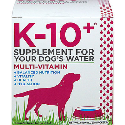 K-10 + Multi-Vitamin Powder for Dogs-28 Packets