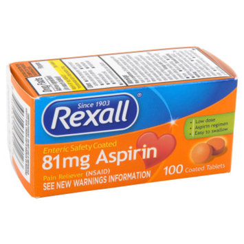 Rexall 81mg Aspirin Coated Tablets - 100 ct