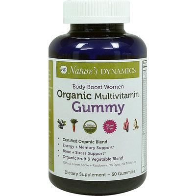 Natures Dynamics Nature's Dynamics - Body Boost Women Organic Multivitamin Whole Food Gummy Green Apple & Raspberry - 60 Gummies