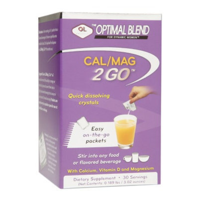 Olympian Labs Optimal Blend Calcium/Magnesium 2 GO Quick Dissolving Crystals, 30 ea